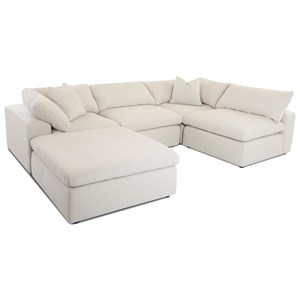 Contemporary 5 pc Modular Sectional Sofa