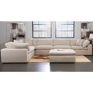 Contemporary 6 Pc Modular Sectional Sofa