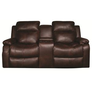 Power Reclining Loveseat with Console , Storage and Cup holders