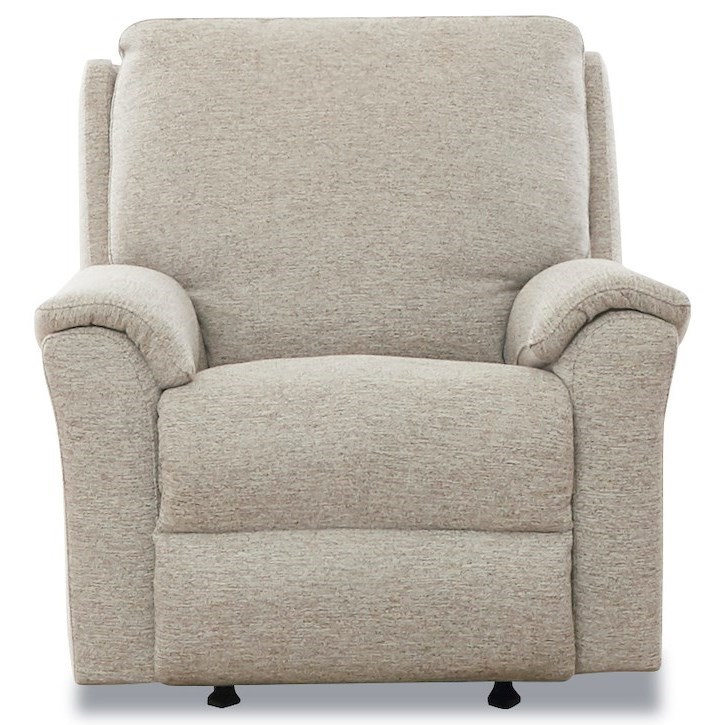 Davos Pwr Rock Recliner w/ Pwr Headrest / Lumbar by Klaussner at Northeast Factory Direct