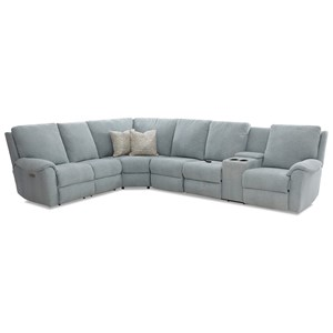Pwr Recline Sectional w/RAF Cnsl/Headrest/Ma