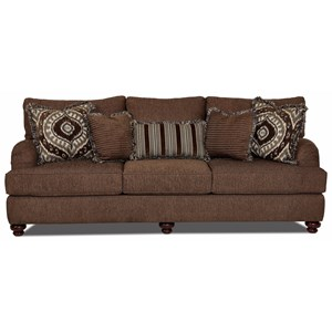 Traditional Sofa with Turned Feet