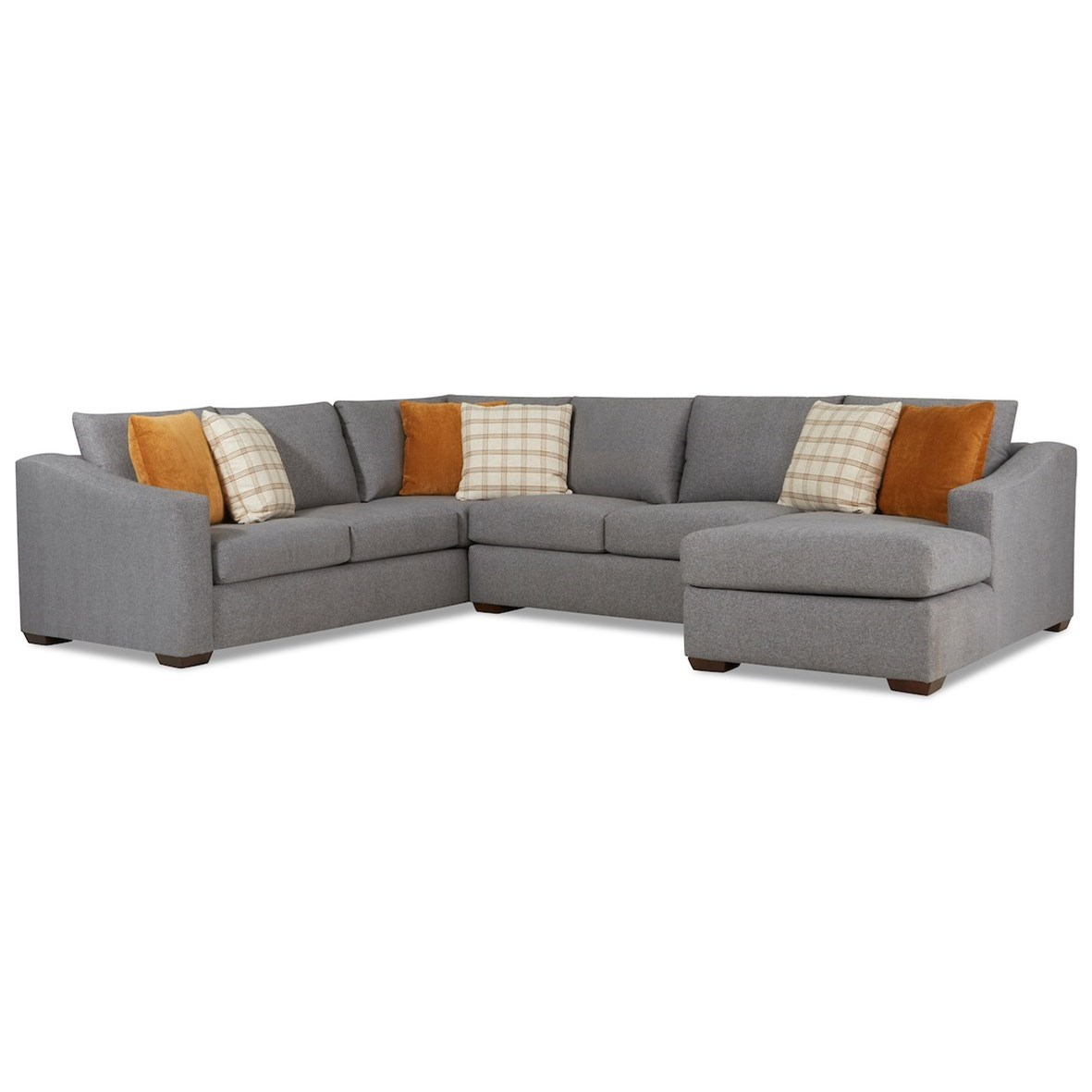 Demi 5-Seat Sectional Sofa w/ RAF Chaise by Klaussner at Johnny Janosik
