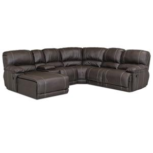 Klaussner Derek Casual Sectional Sofa with Chaise