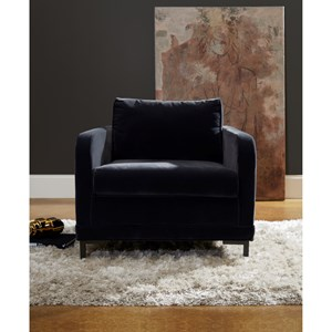 Accent Chair with Metal Legs