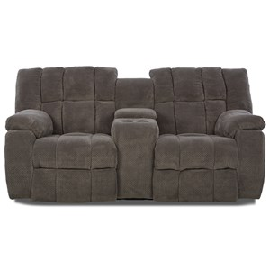 Dozer Reclining Loveseat with Console
