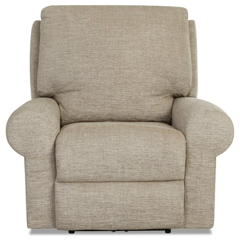 Eddison Power Recliner w/ Pwr Head/Lumbar & Massage by Klaussner at Johnny Janosik