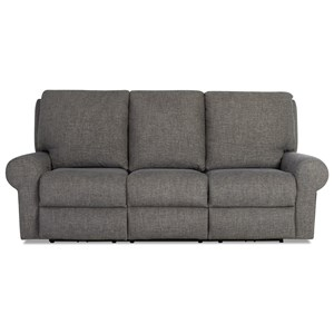 Casual Tailored Power Reclining Sofa with Power Headrest/Lumbar and XMS Massage with Heat