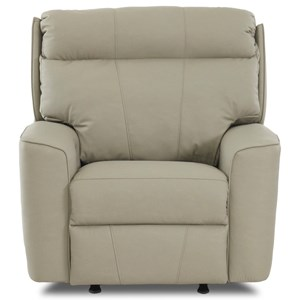 Casual Power Headrest Rocking Reclining Chair with USB Port and Bluetooth Capability