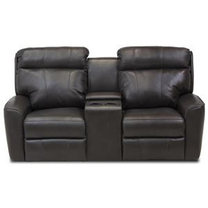 Casual Power Reclining Console Loveseat with USB Charging Ports and Power Head/Lumbar