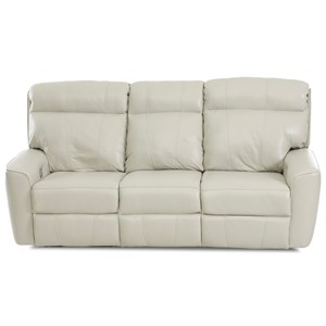 Casual Power Reclining Sofa with USB Charging Ports and Bluetooth Capability