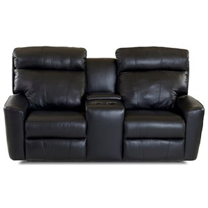 Casual Power Reclining Console Loveseat with USB Charging Ports and Bluetooth Capability
