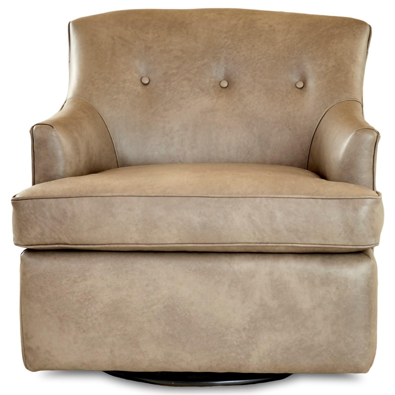 Elizabeth Swivel Glider Chair by Klaussner at Lapeer Furniture & Mattress Center