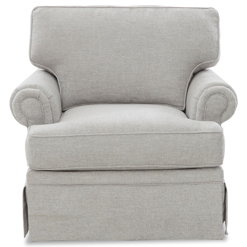 Ella Swivel Glider Chair by Klaussner at Van Hill Furniture