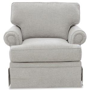 Swivel Glider Chair w/ Kool Gel Seat Cushion