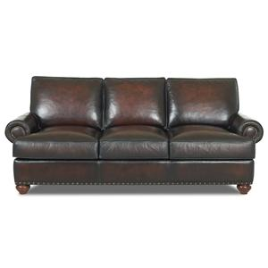 Klaussner Ellington  Classic Leather Sofa