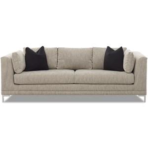 Contemporary Sofa with Arm Pillows