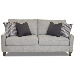 Transitional Apartment-Sized Sofa with Nailhead Trim