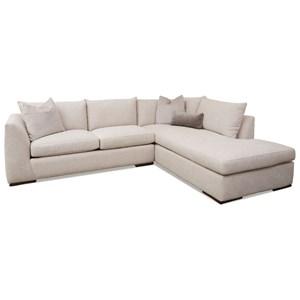 2-Piece Sectional Sofa w/ RAF Sofa Chaise