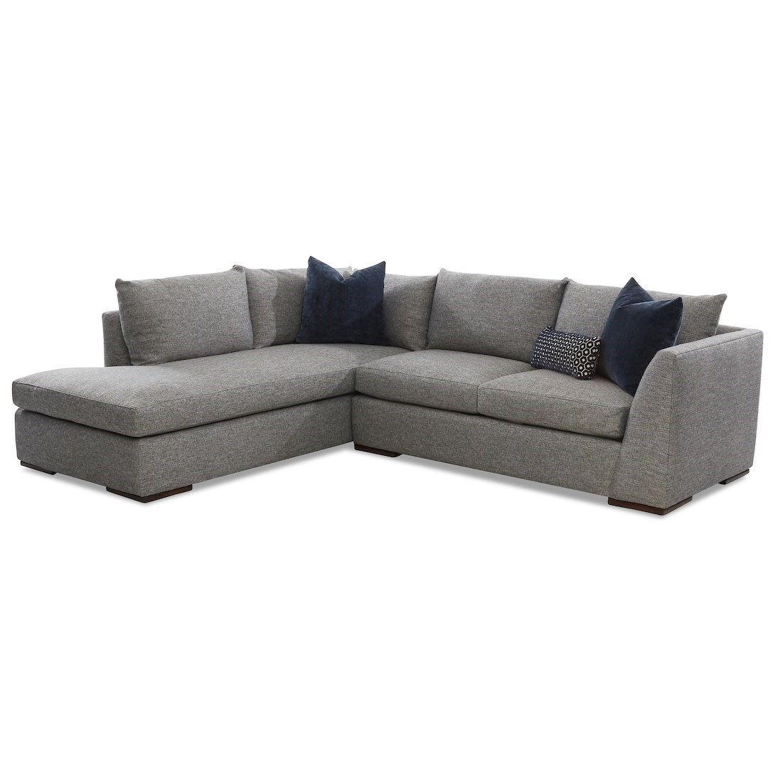 Flagler 2-Piece Sectional Sofa w/ LAF Sofa Chaise by Klaussner at Northeast Factory Direct