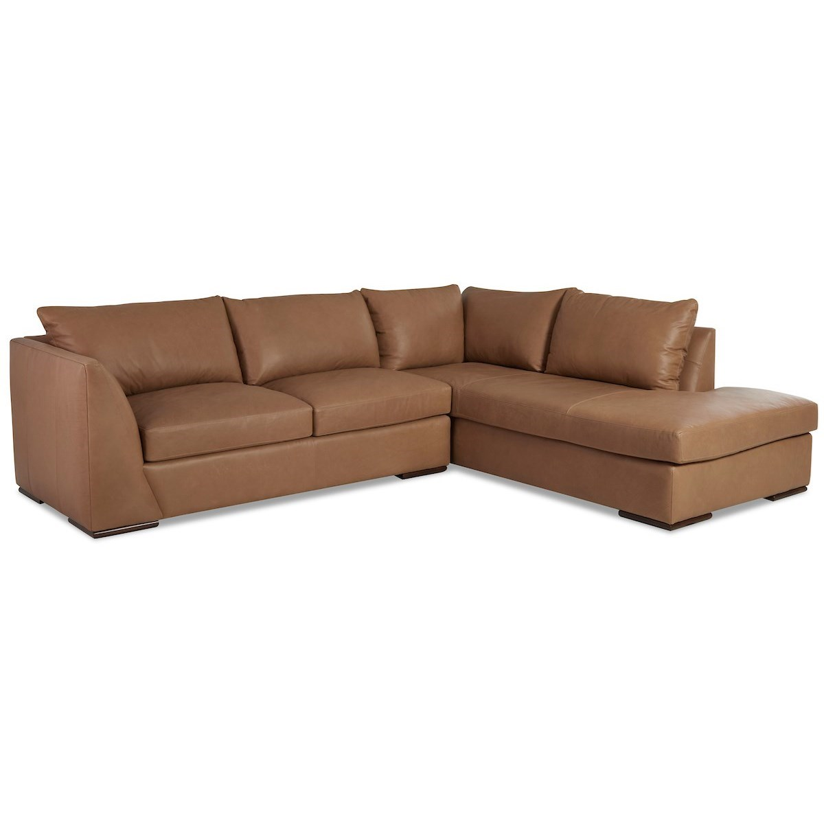 Flagler 2-Piece Sectional Sofa w/ RAF Sofa Chaise by Klaussner at Johnny Janosik