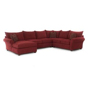 Klaussner Fletcher Sectional Sofa with Chaise