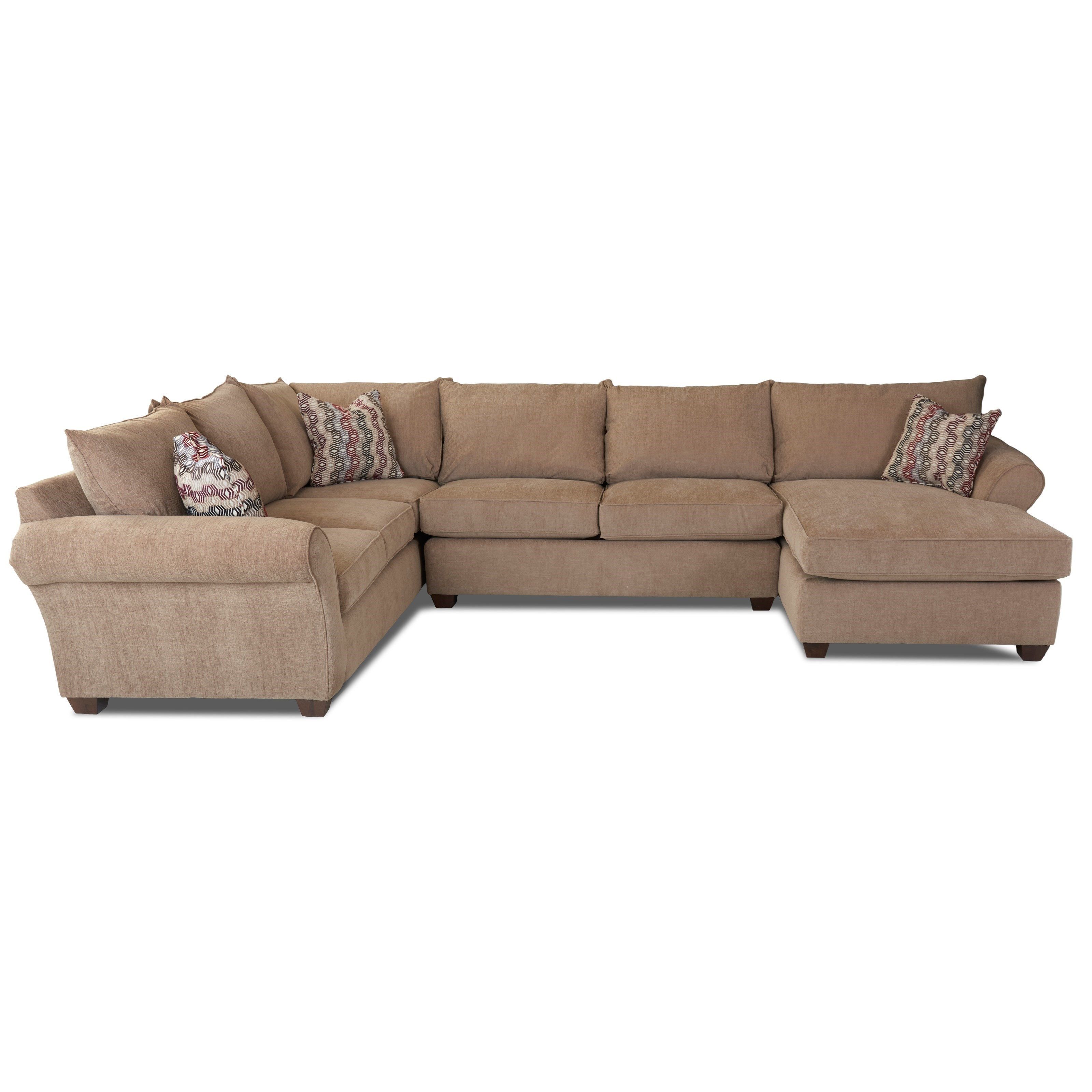 Fletcher Sectional Sofa by Klaussner at Northeast Factory Direct