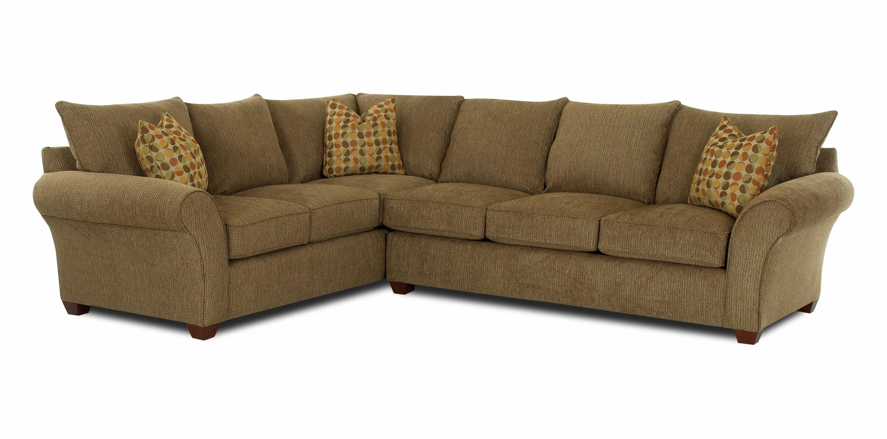 Fletcher Transitional 2 Piece Sectional Sofa by Klaussner at Northeast Factory Direct