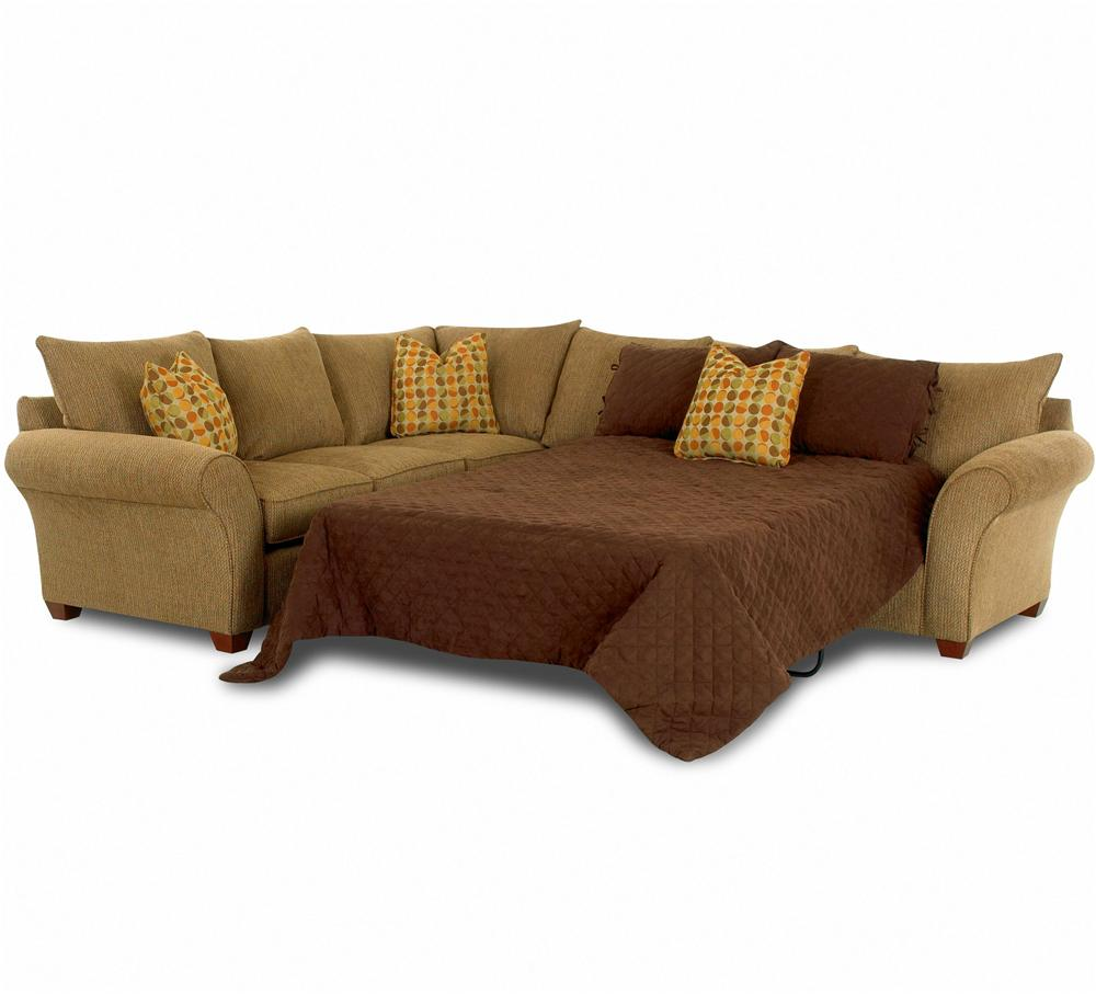Fletcher Sectional Sofa with Sleeper by Klaussner at Johnny Janosik