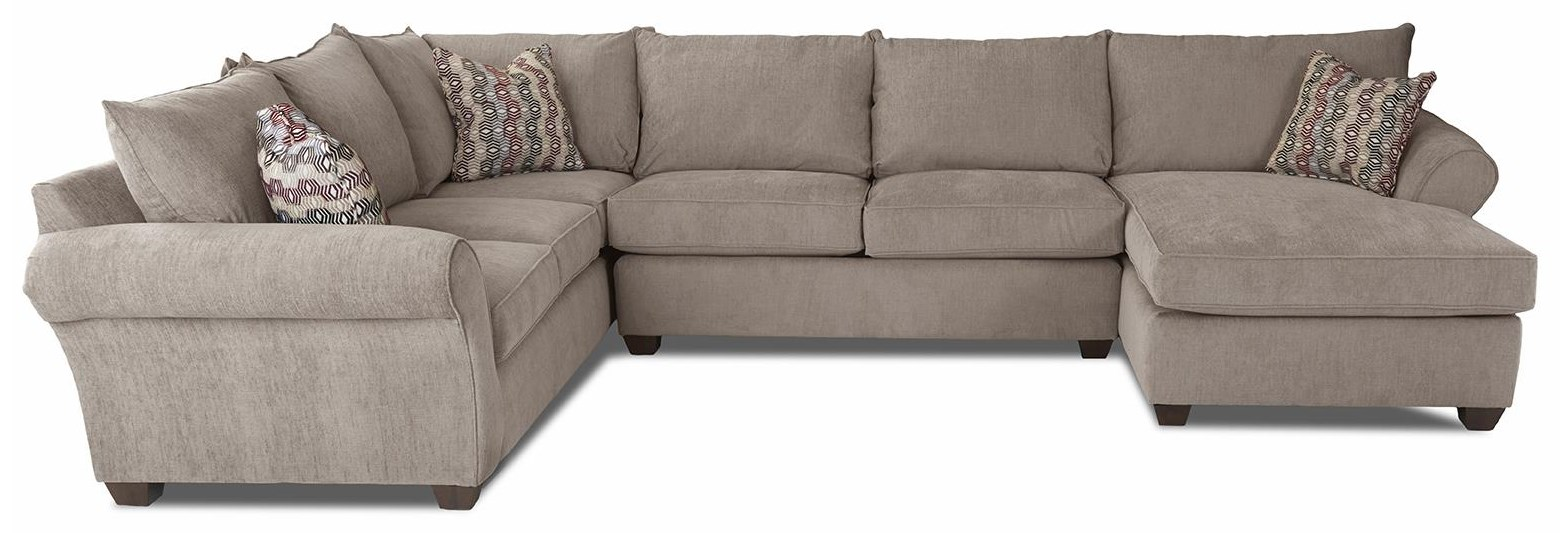 Fletcher 3 PIECE SECTIONAL by Klaussner at Johnny Janosik