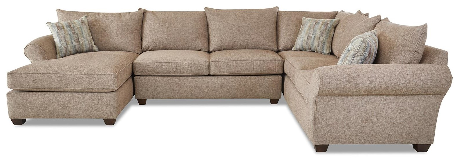 Fletcher Sectional Sofa with Chaise by Klaussner at Johnny Janosik