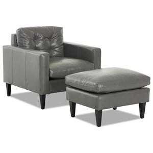 Mid-Century Modern Chair and Ottoman