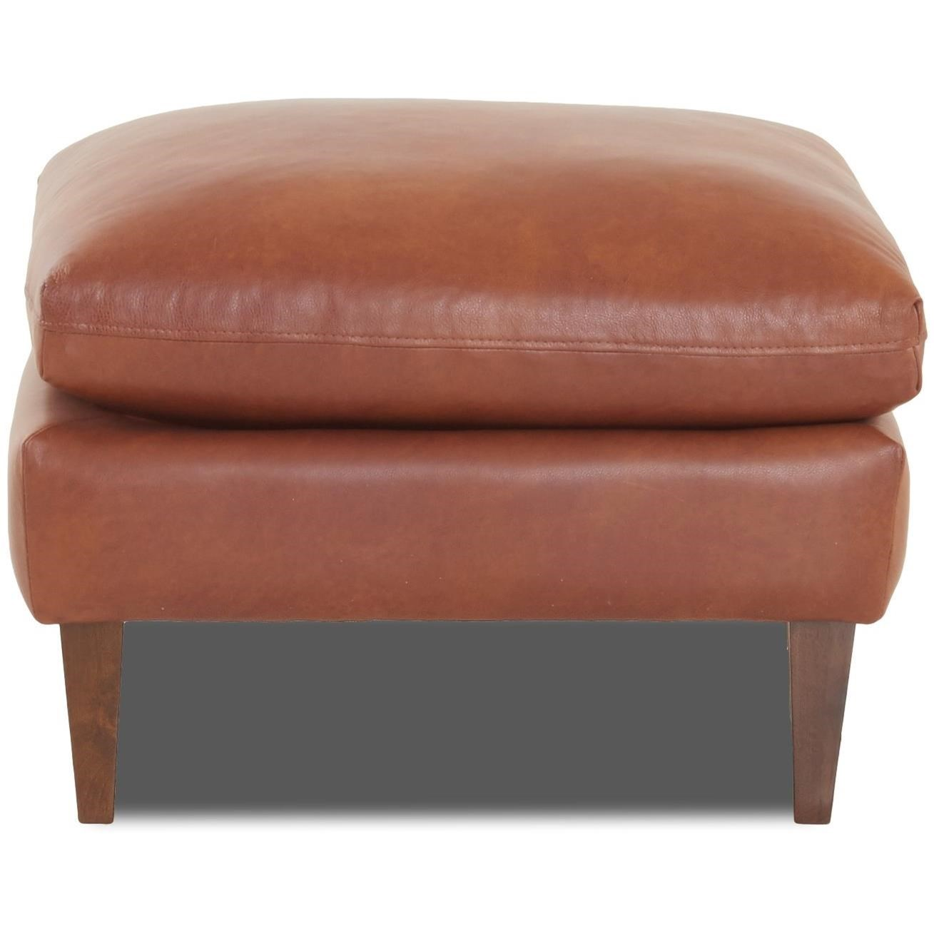 Florence Ottoman by Klaussner at Lapeer Furniture & Mattress Center