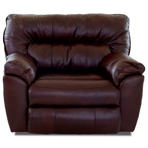 Casual Power Recliner with Pillow Top Arms