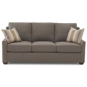 "Contemporary 80"" Sleeper Sofa with Innerspring Mattress"
