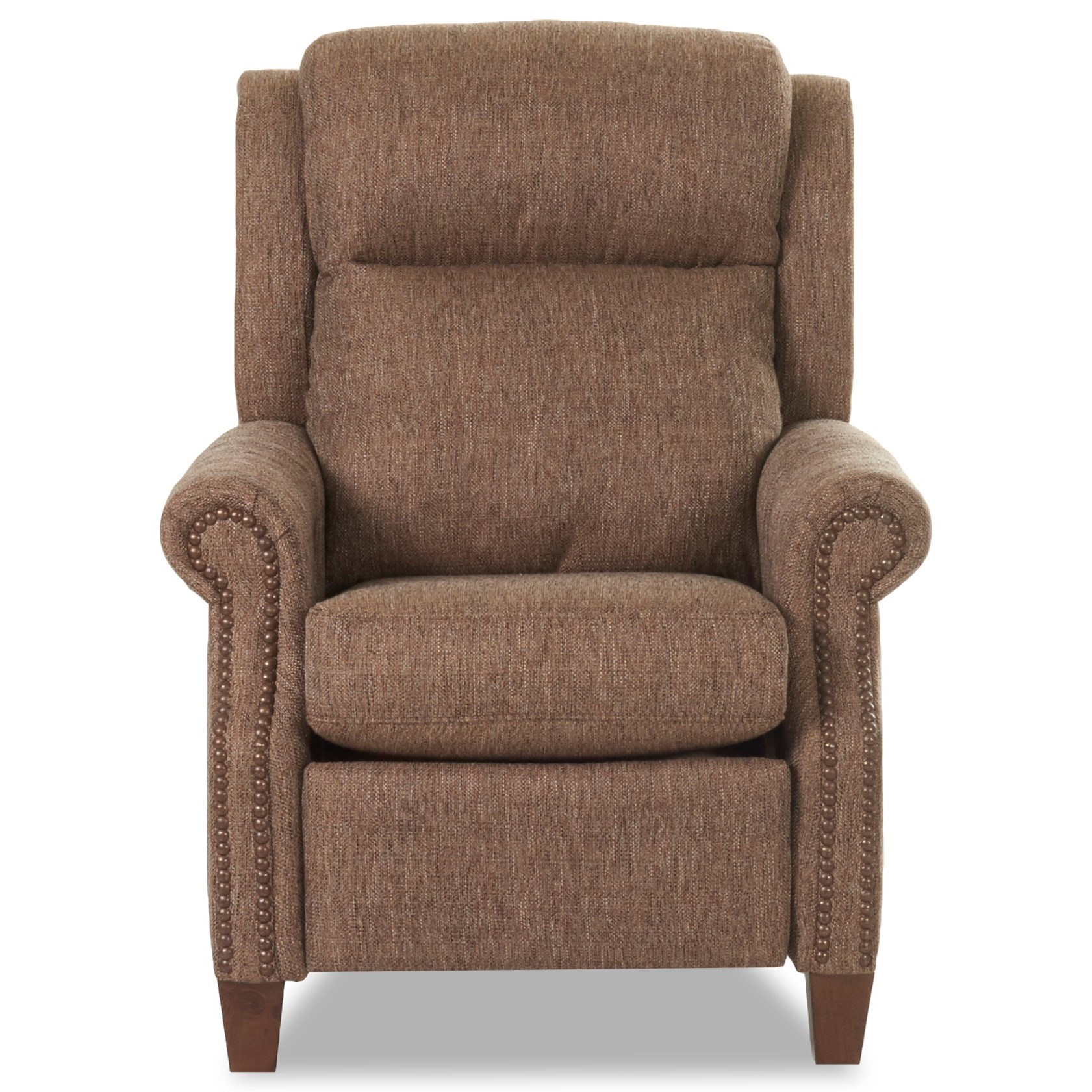 Gateway Power Recliner w/Nailheads, Pwr Head, Massag by Klaussner at Johnny Janosik