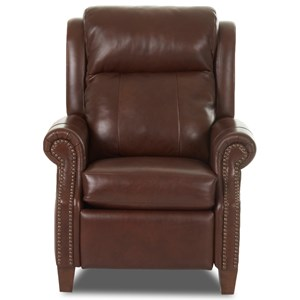 Traditional Power High Leg Recliner with Nailheads and Power Headrest & Lumbar