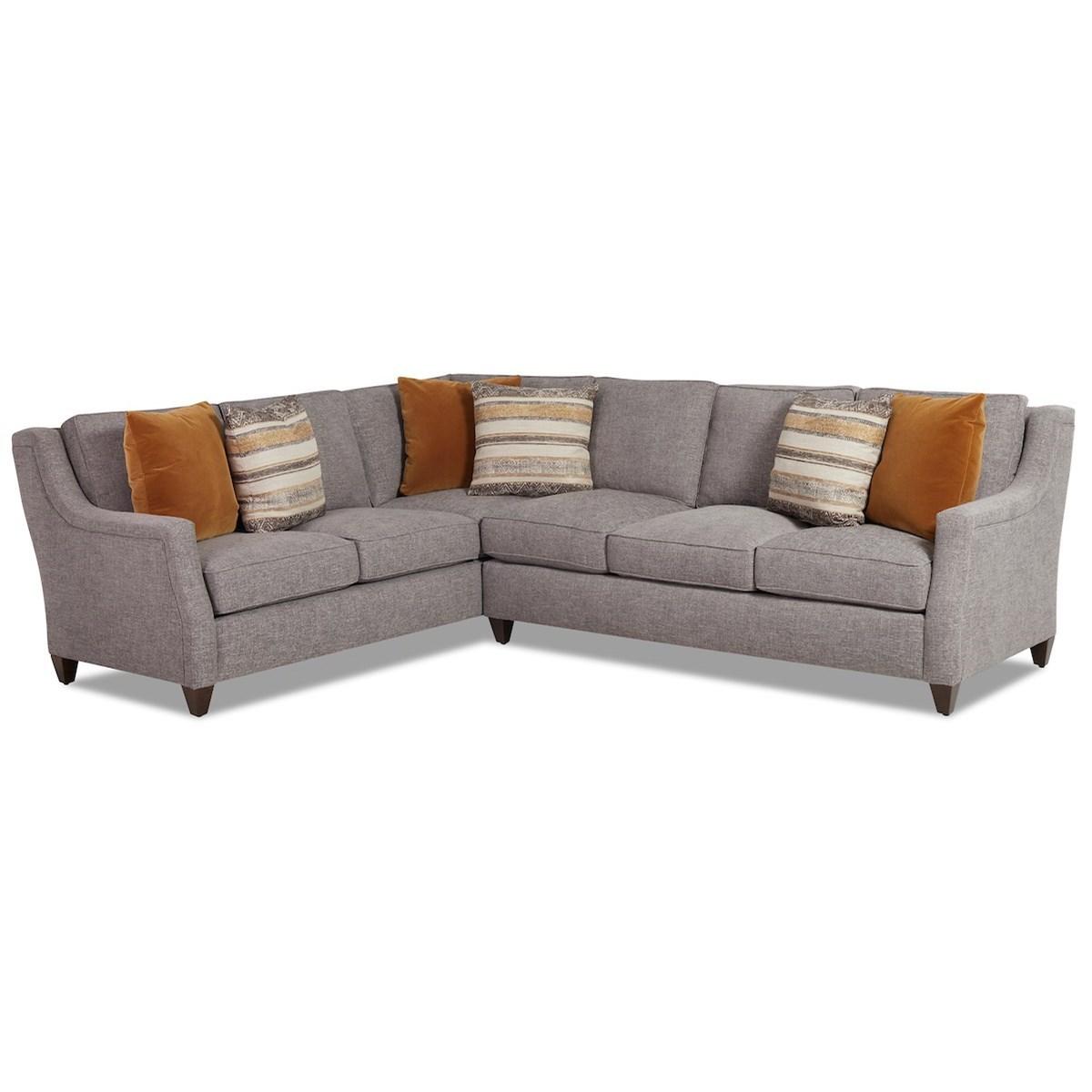 Gemma 5-Seat Sectional Sofa w/ LAF Corner Sofa by Klaussner at Lapeer Furniture & Mattress Center