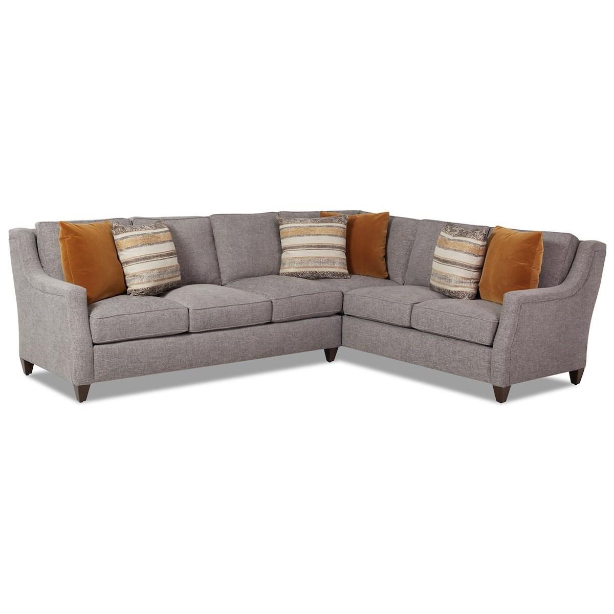 Gemma 5-Seat Sectional Sofa w/ RAF Corner Sofa by Klaussner at Johnny Janosik