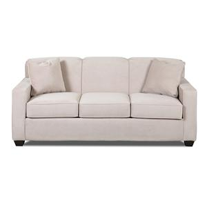 Contemporary Innerspring Queen Sleeper Sofa with Tight Back and Track Arms