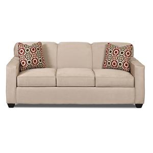 Contemporary Sofa with Tight Back and Track Arms