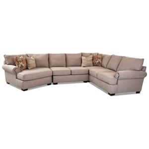 5-Seat Sectional Sofa w/ LAF Cuddler Chair