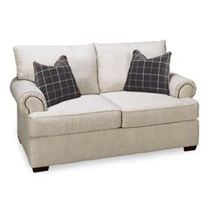 Transitional Loveseat w/ Nailhead Trim