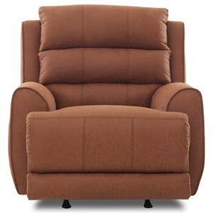Contemporary Power Rocking Reclining Chair with Power Headrest, USB Port, and Bluetooth Functionality