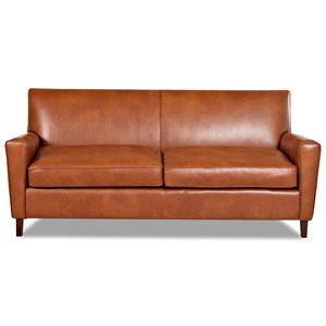 Contemporary 78-Inch Leather Sofa