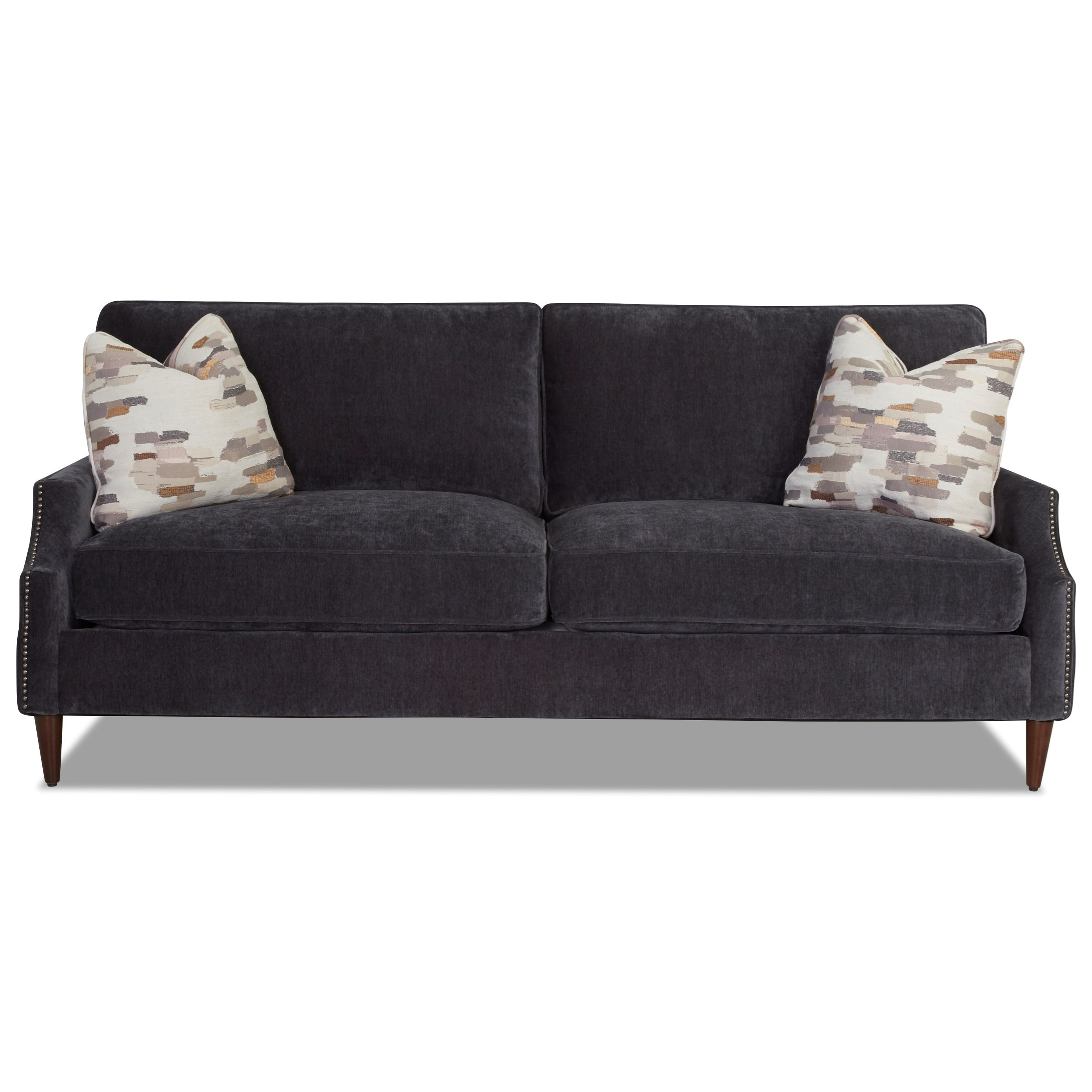 Grammercy 2-Over-2 Sofa with Arm Pillows by Klaussner at Johnny Janosik