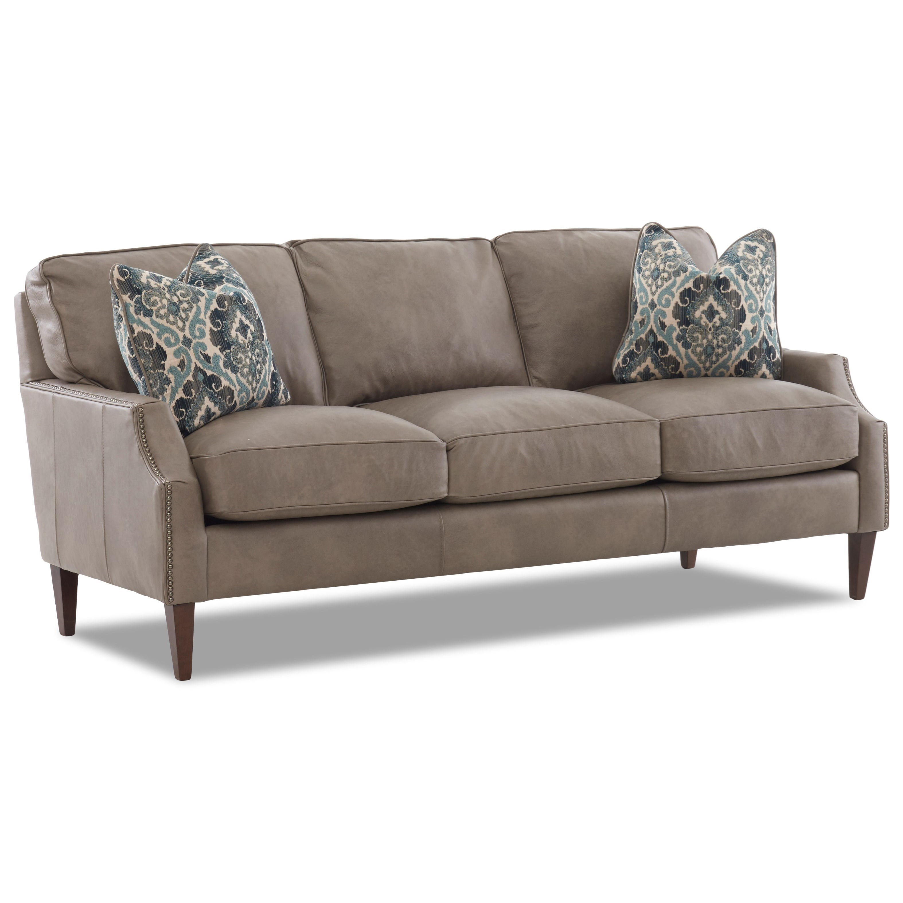 Grammercy Leather Sofa by Klaussner at Lapeer Furniture & Mattress Center