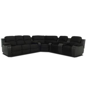 Klaussner Grand  Reclining Sectional Sofa