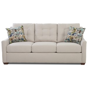 Queen Enso Memory Foam Sleeper Sofa with Button Tufting and Innerspring Support