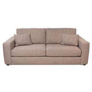 Contemporary 2-Seat Sofa w/ Wide Track Arms